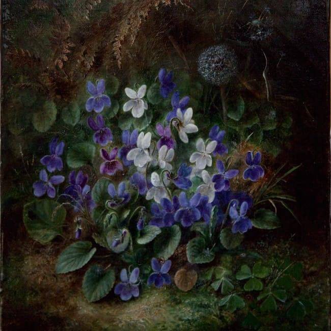 oil painting restoration flowers after clean