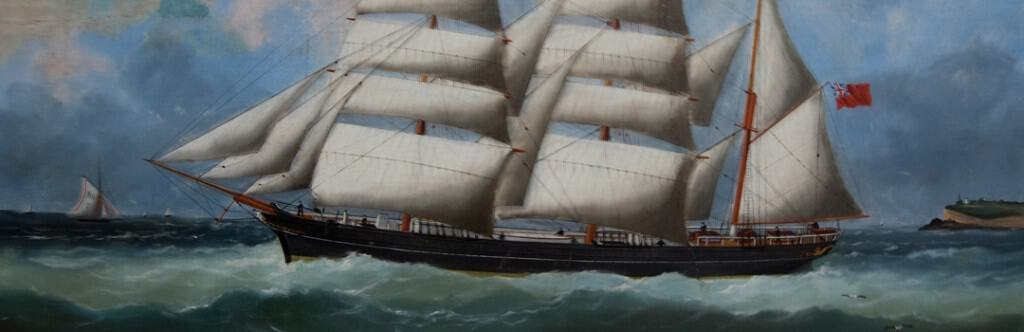 oil painting restoration ship after clean