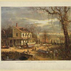 oleograph print of American scene