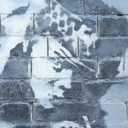 Detail of Snorting Copper by Banksy