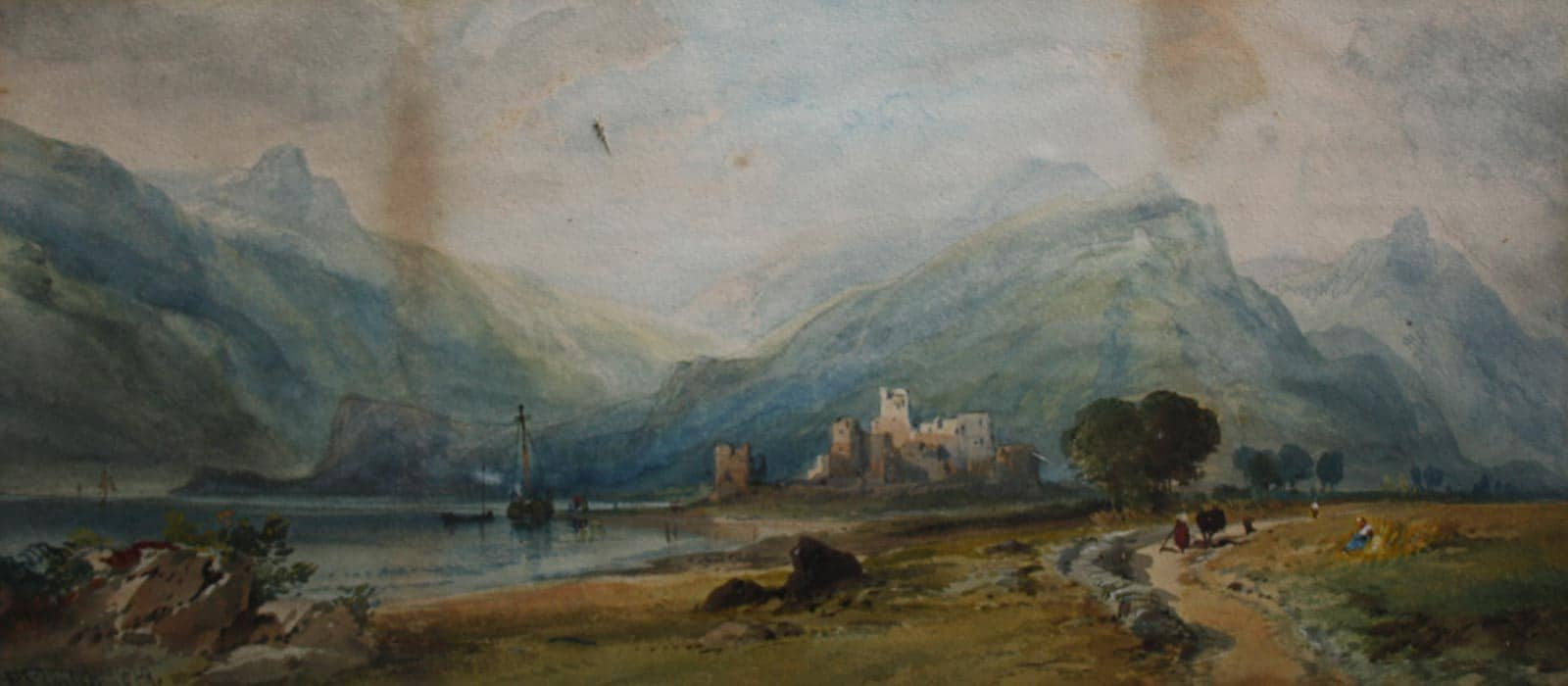 Watercolour Painting Restoration - Before