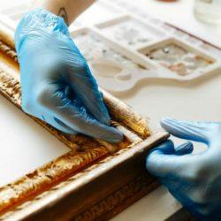 Repairing missing moulding on frame