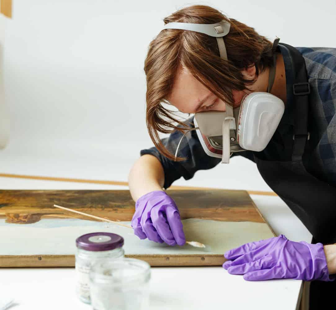 Repairing a Smoke Damaged Painting