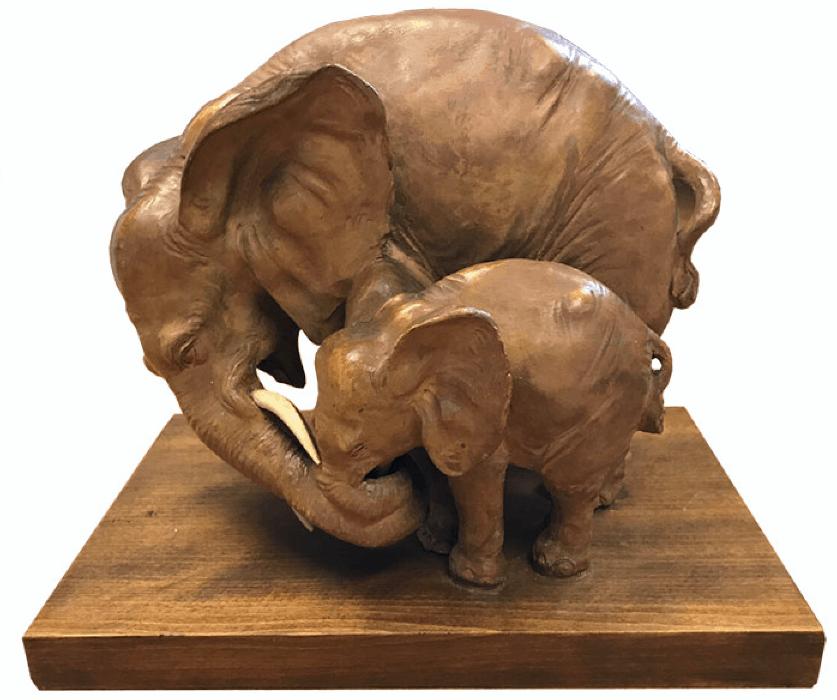 Elephant Sculpture Repair - After