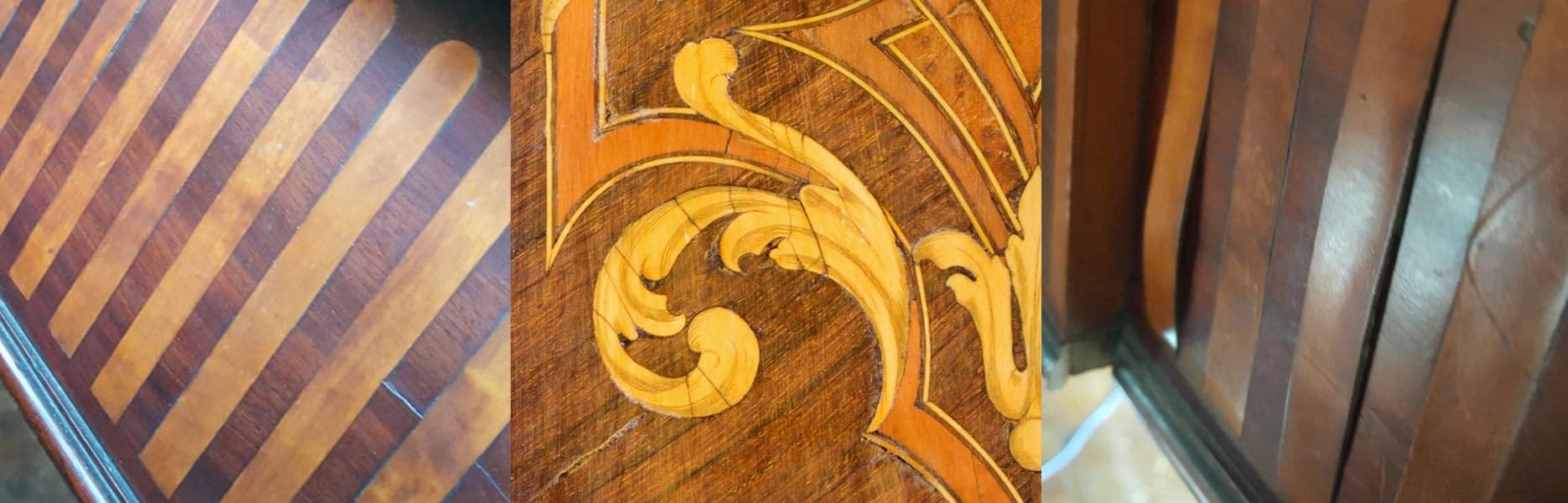 Veneer Repairs, Marquetry and Inlay Restoration