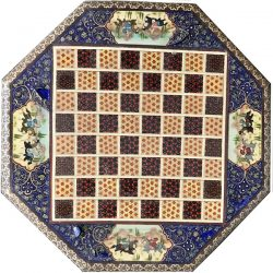 Chess board before restoration