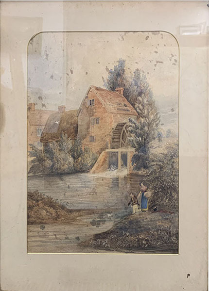Cleaning a Watercolour - Before