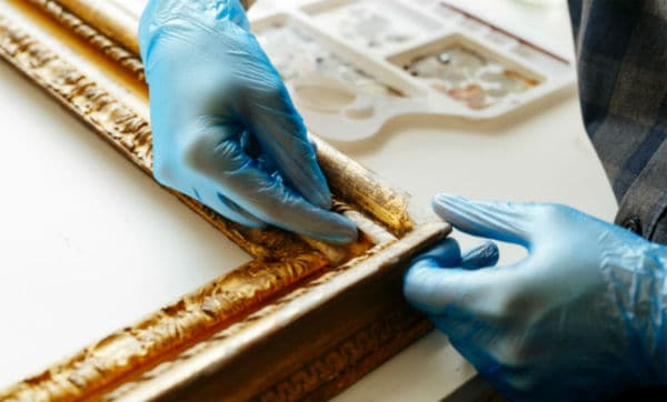 Re-Gilding Antique Frame