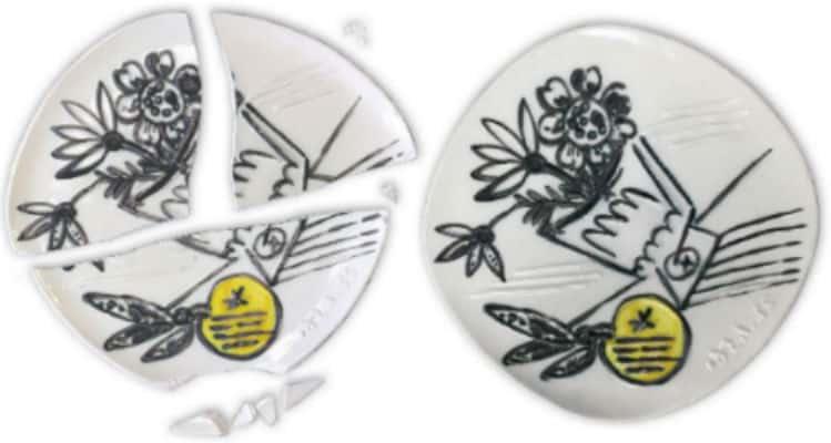 Ceramic Plate Repair - Before & After