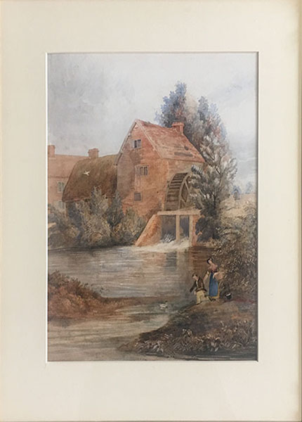 Cleaning a Watercolour - After