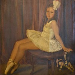 Oil Painting Cleaning - Ballerina