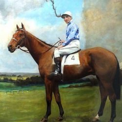 Oil Painting Cleaning - Jockey