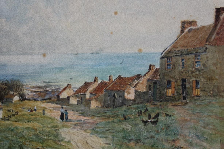 coastal scene foxing - before