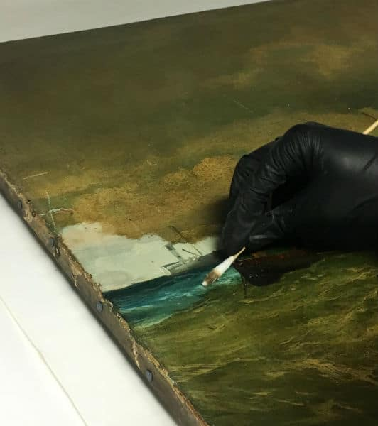 oil painting varnish removal