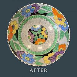 Ceramic Bowl Restoration and Repair - After