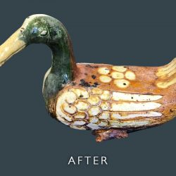 Ceramic Duck Restoration - After