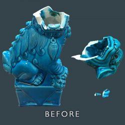 Dog Figurine Repair - Before