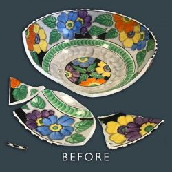 Ceramic Bowl Restoration - Before