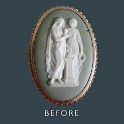 Ceramic Picture Restoration - Before