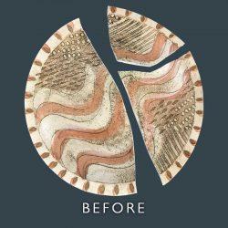 Broken Ceramic Repair - Before