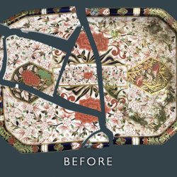 Ceramic Plate Restoration - Before