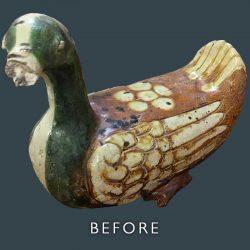 Ceramic Duck Restoration - Before