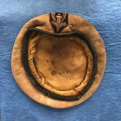 Military beret before restoration