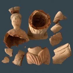Oriental sculpture broken into 13 pieces