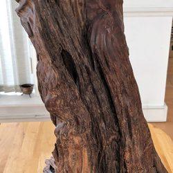 Wooden sculpture before restoration