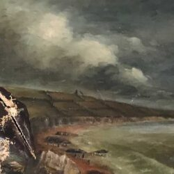 Accidental damage to oil painting before restoration