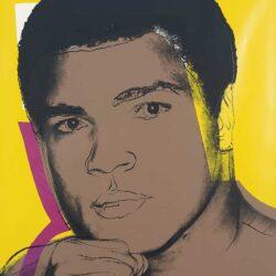 Muhammad Ali Andy Warhol print restored