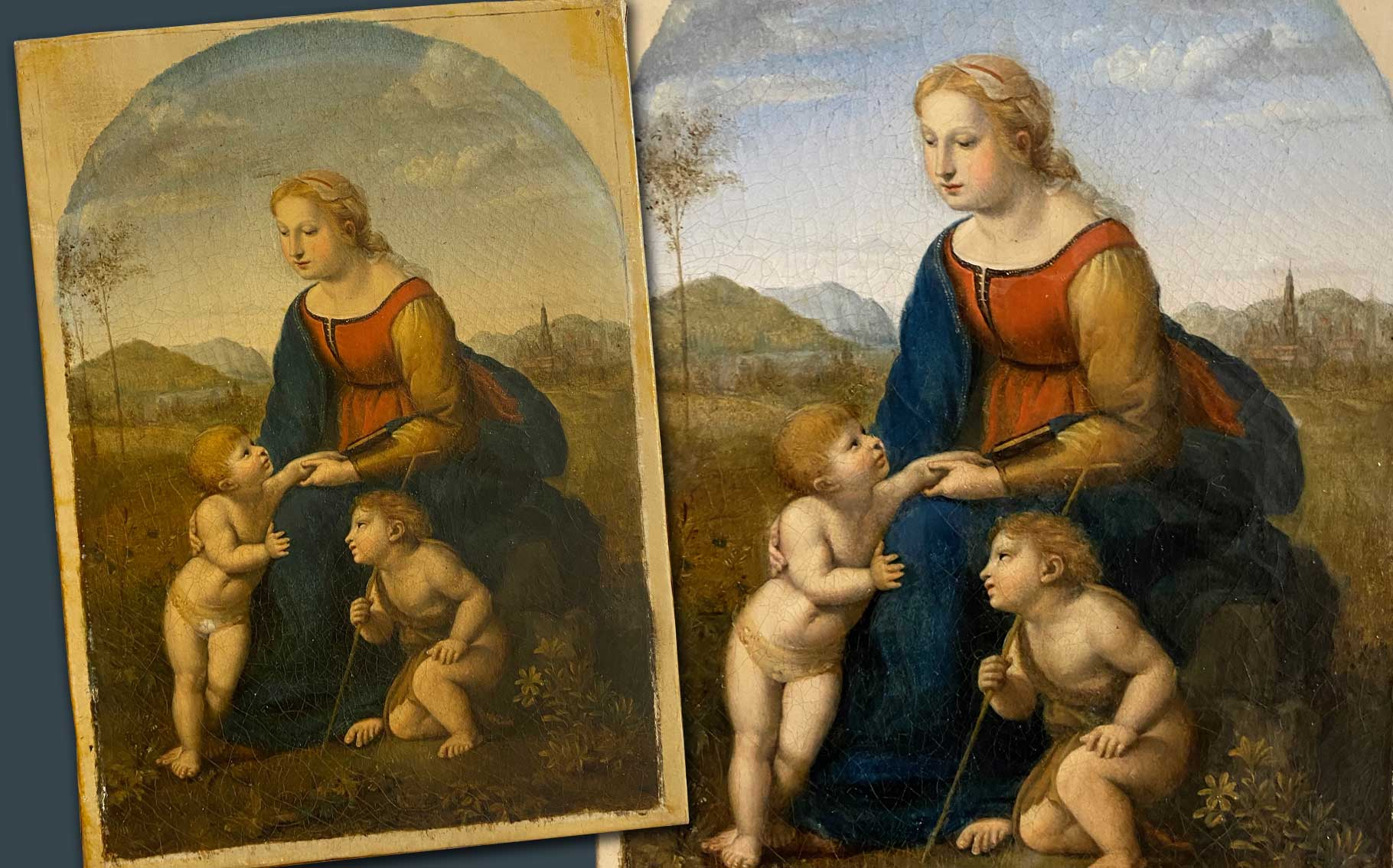 Before and after image for giving restoration as a gift