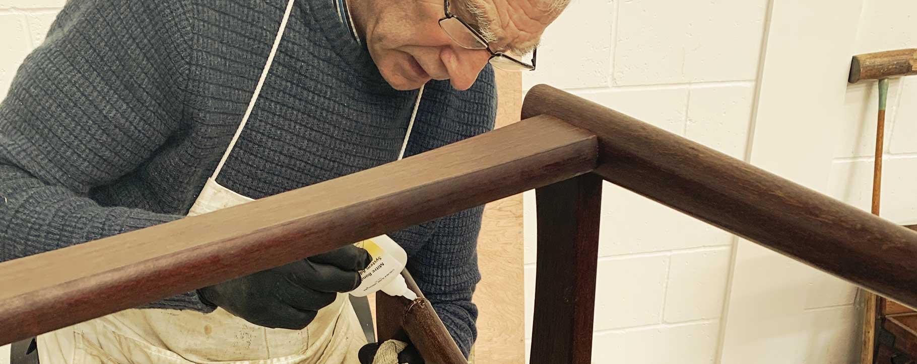 furniture restorer gluing