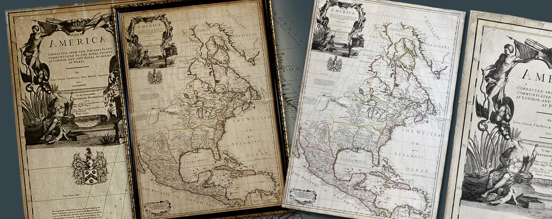 Americas map before and after cartography restoration