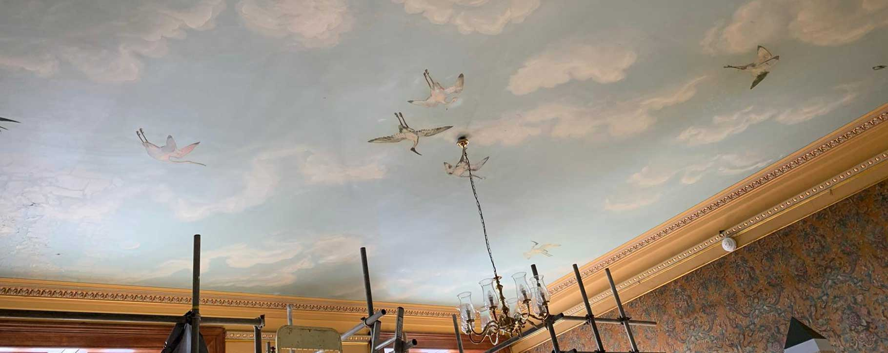 westonbirt school ceiling before restoration