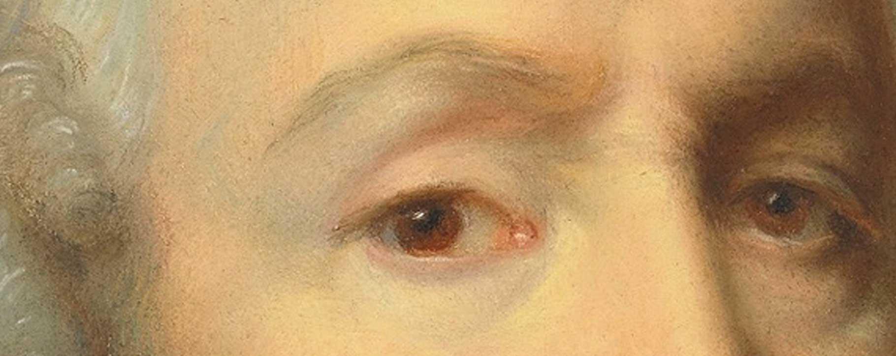 pastel close up of eyes