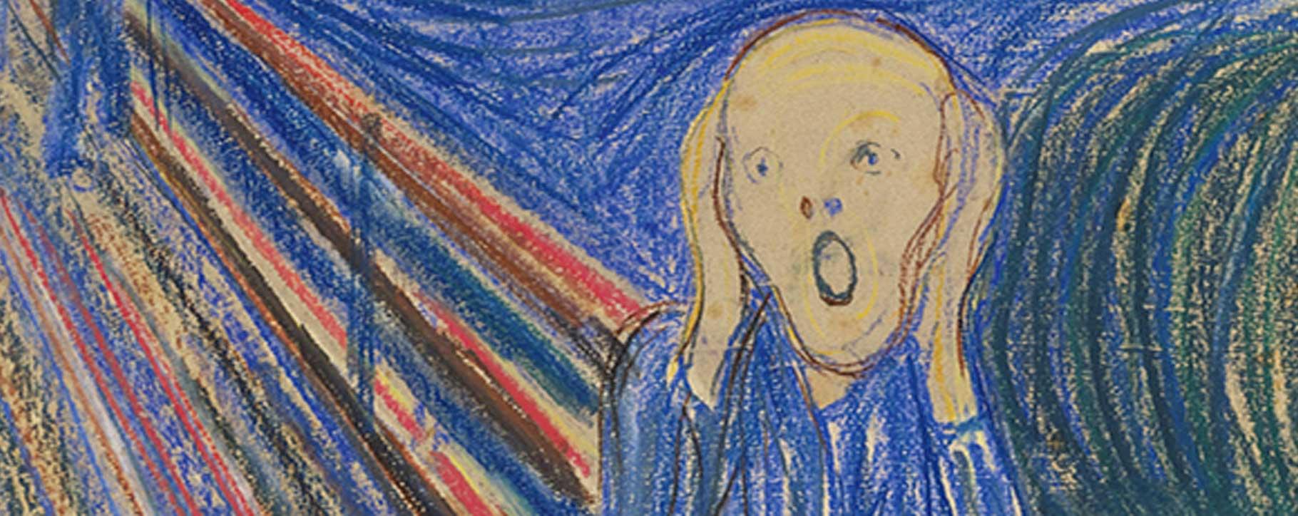 pastel scream munch