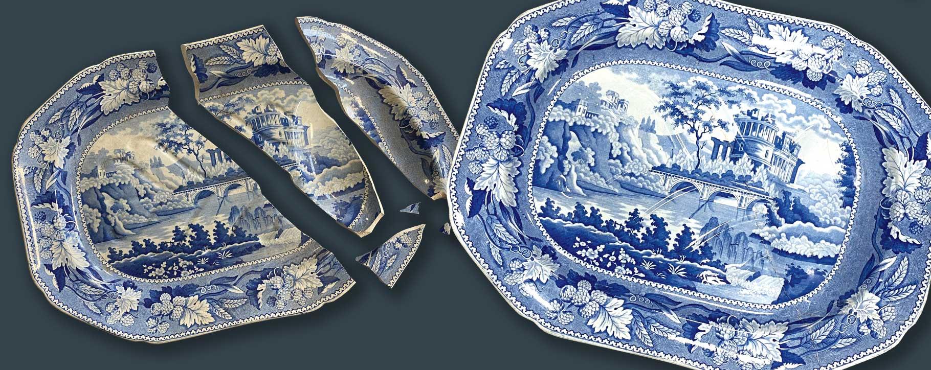 ceramic platter restoration