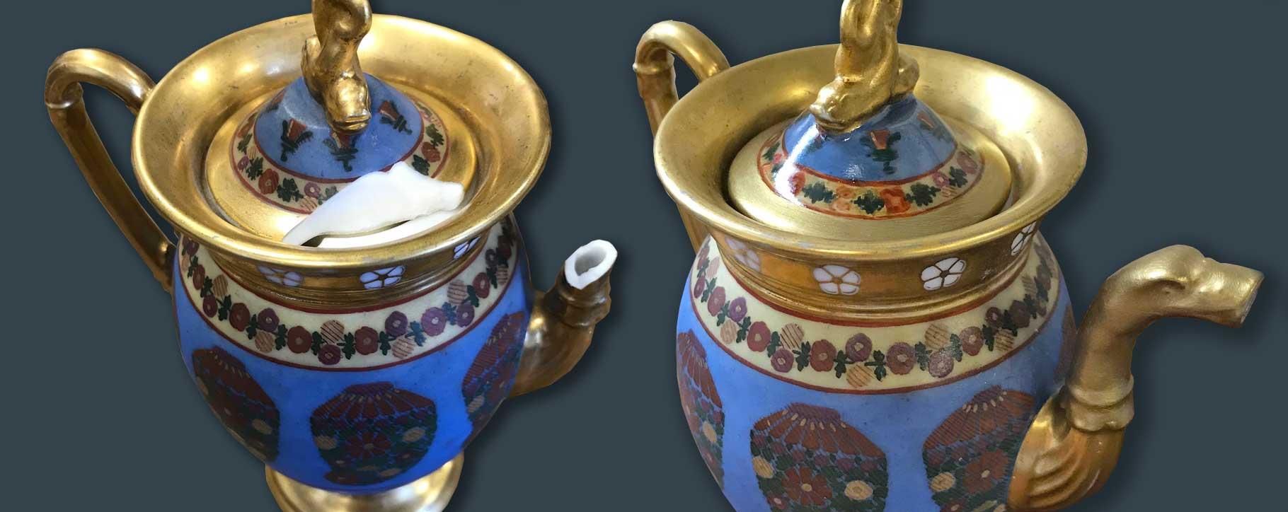 broken teapot restoration