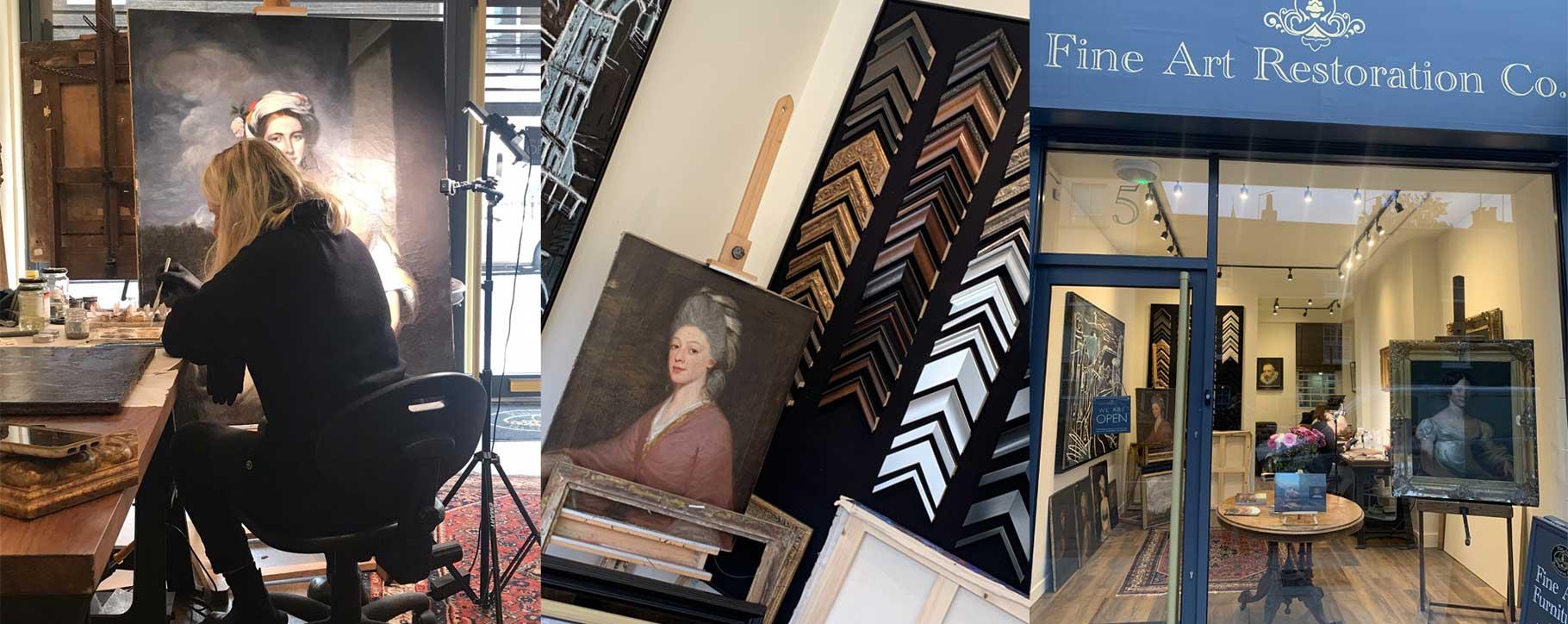 fine art restoration company london shop