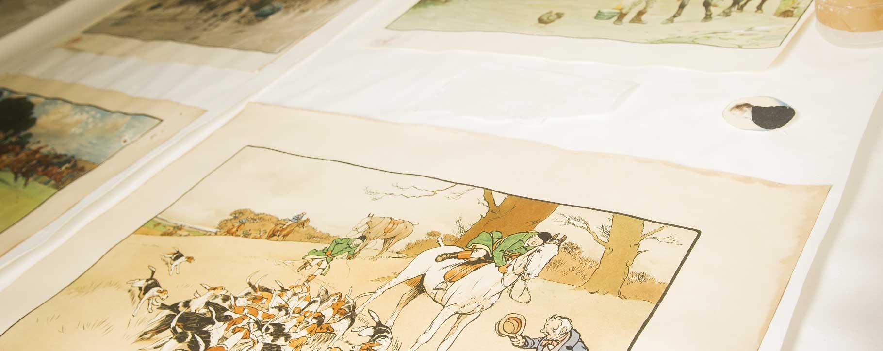 works on paper for restoration