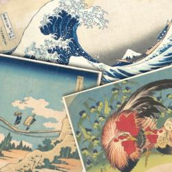 japanese woodblock montage