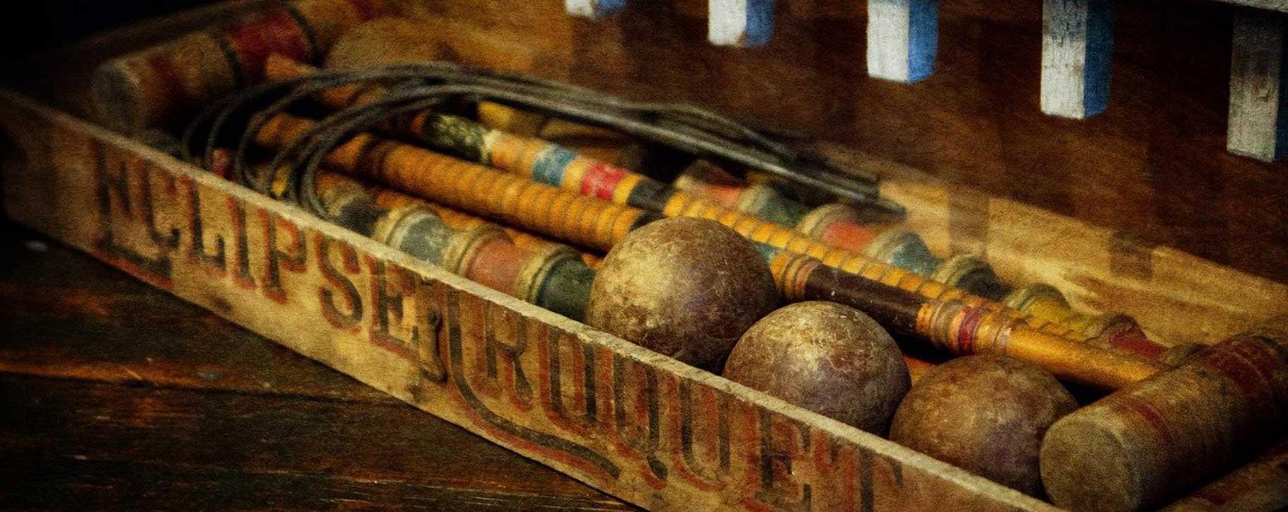 restoration of antique croquet set