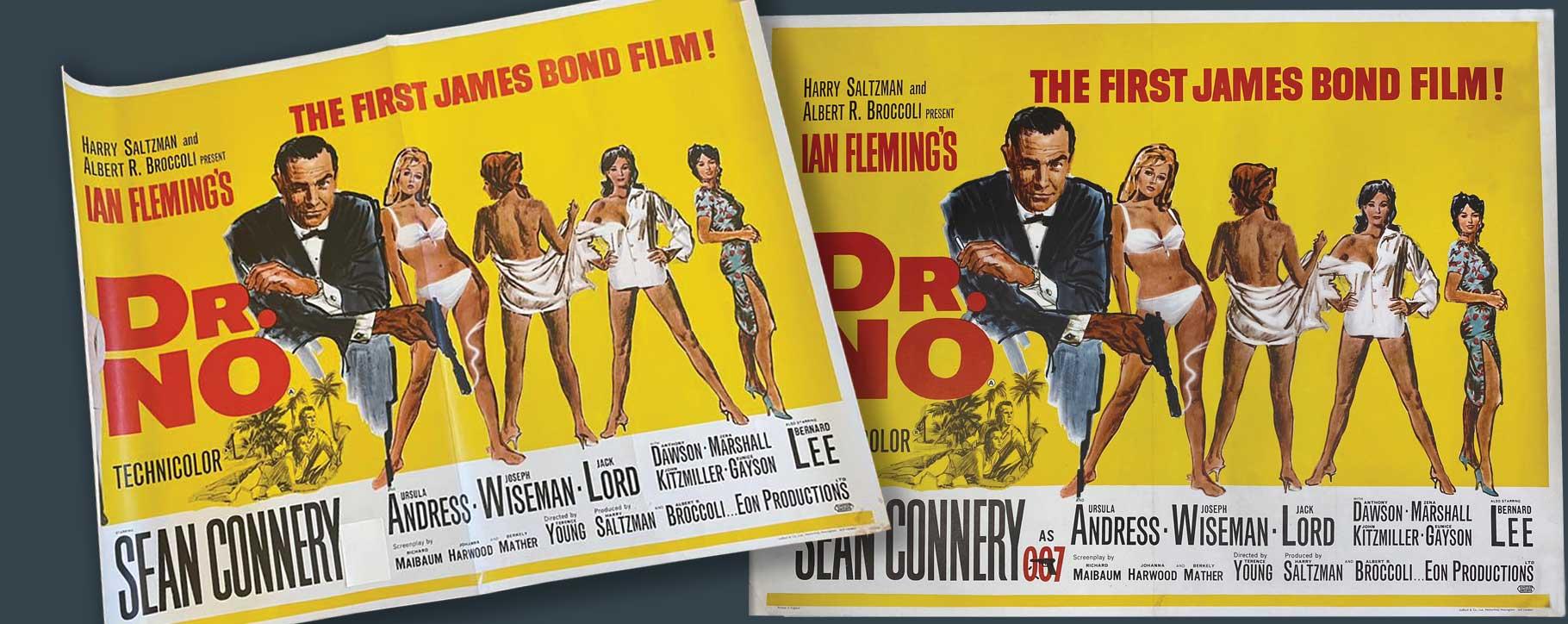 james bond dr no poster - cinema memorabilia rescue