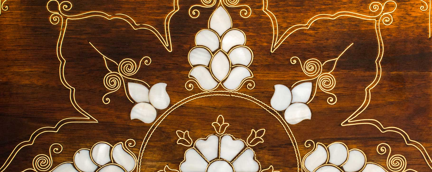 marquetry restoration - pearl inlay