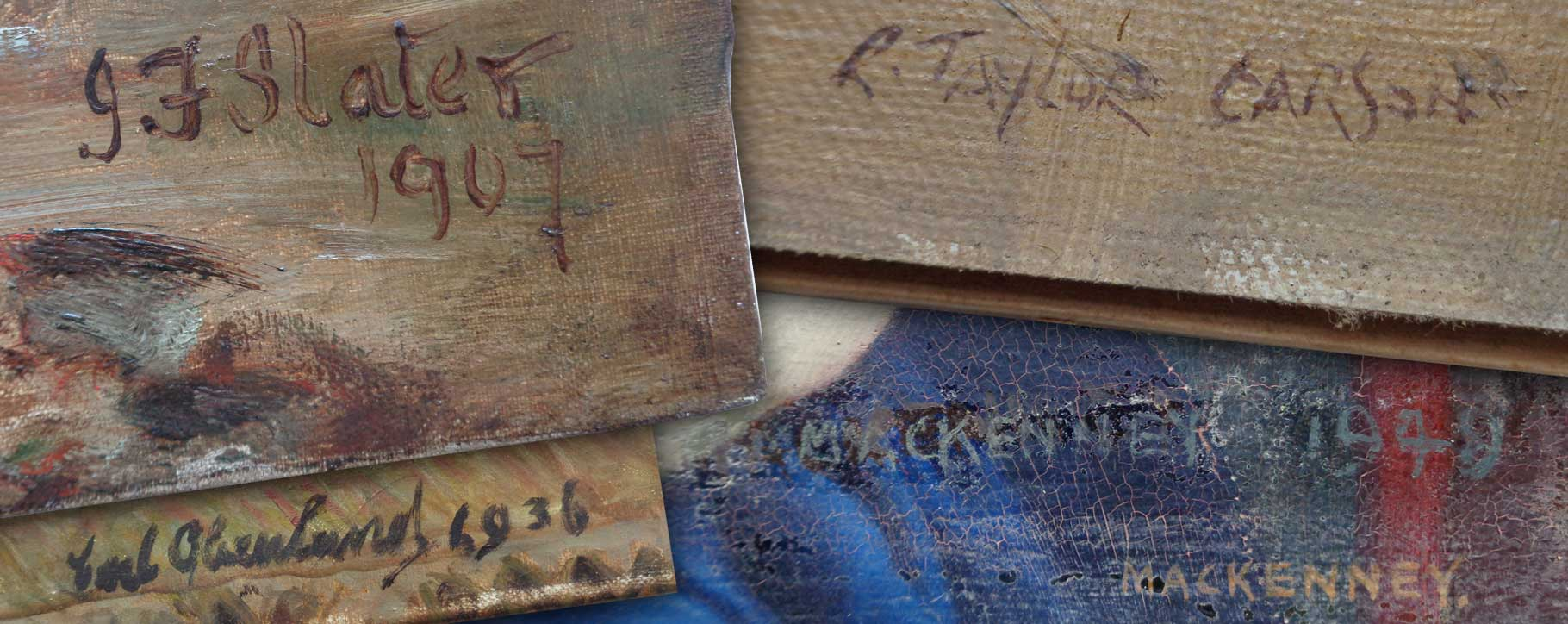 Oil painting signatures