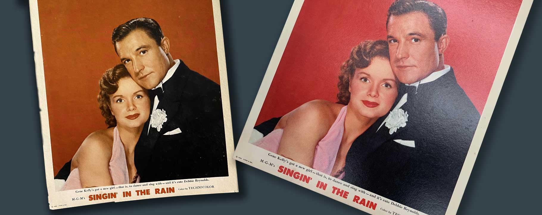 singin in the rain lobby cards restoration