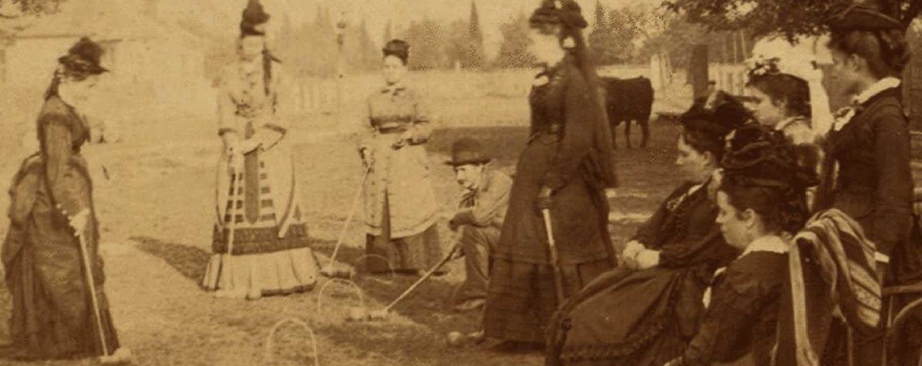 victorian croquet - wooden games