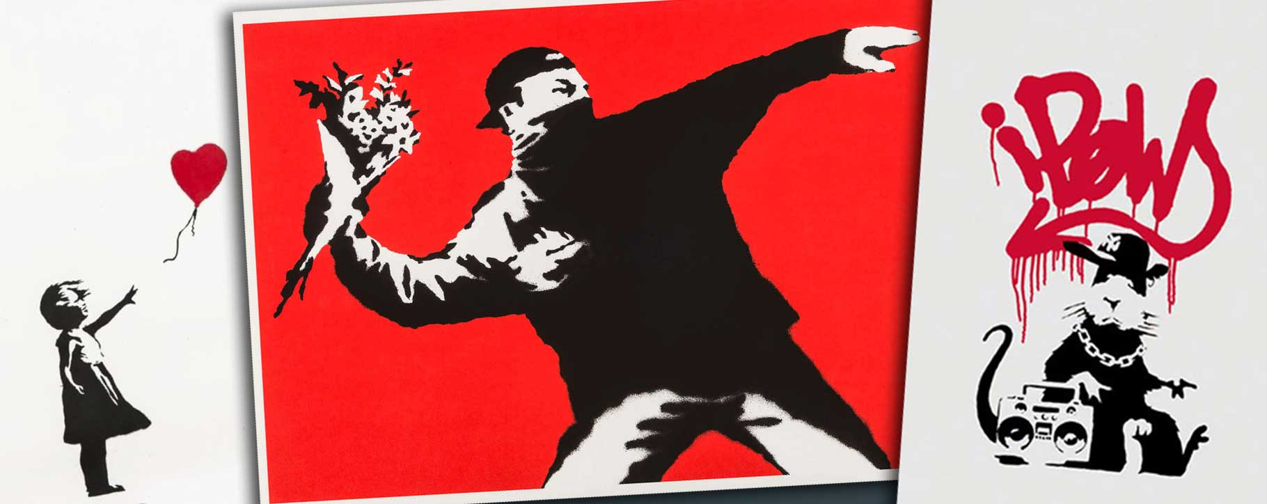Banksy restorations on paper