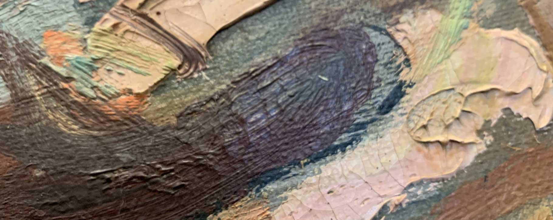 close up of paint details